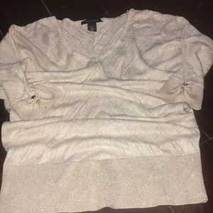 White House Black Market Light Sweater Size Small